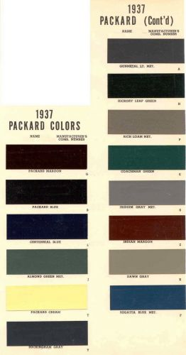 Vintage Packard Paint Colors Vintage Paint