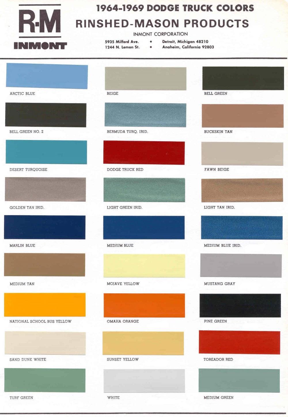 Dodge Truck Colors Wiring Diagrams 1964 Color Chips Vintage Chrysler Plymouth Paint Rh Vintagepaint Biz 2019