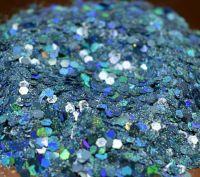 Baja Blue Chunky Metal Flake Glitter
