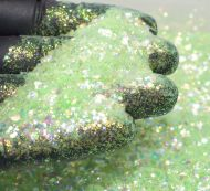Pastel Green Opalescent Chunky Glitter Metal Flake