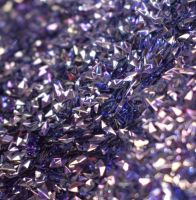 Blue Stained Glass 3MM Diamond Shaped 3D Glitter Metal Flake