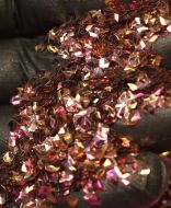 Coral Pink 3MM Pentastar Shaped 3D Glitter Metal Flake