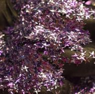 Amethyst Purple 3MM Star Shaped 3D Glitter Metal Flake