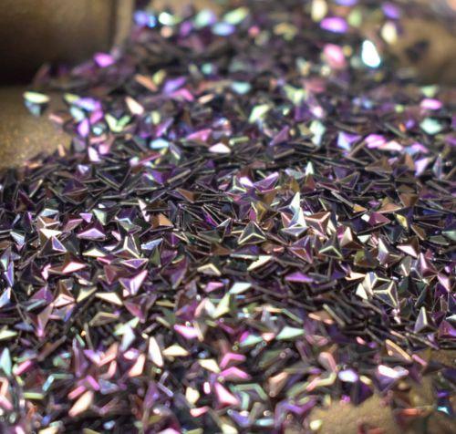 Cosmic Purple 3MM Triangle Shaped 3D Glitter Metal Flake