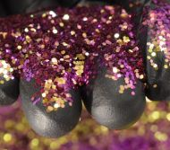 Golden Ruby Chunky Metal Flake Glitter 0.030 Hex