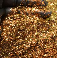 Autumn Foliage Chunky Metal Flake Glitter 0.040 Hex 4 oz by volume