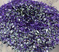 Purple Wave Chunky Metal Flake Glitter 0.040 Hex
